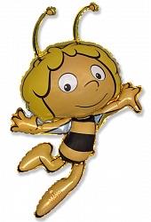 Шар (36''/91 см) Фигура, Пчела Майя, Желтый, 1 шт.