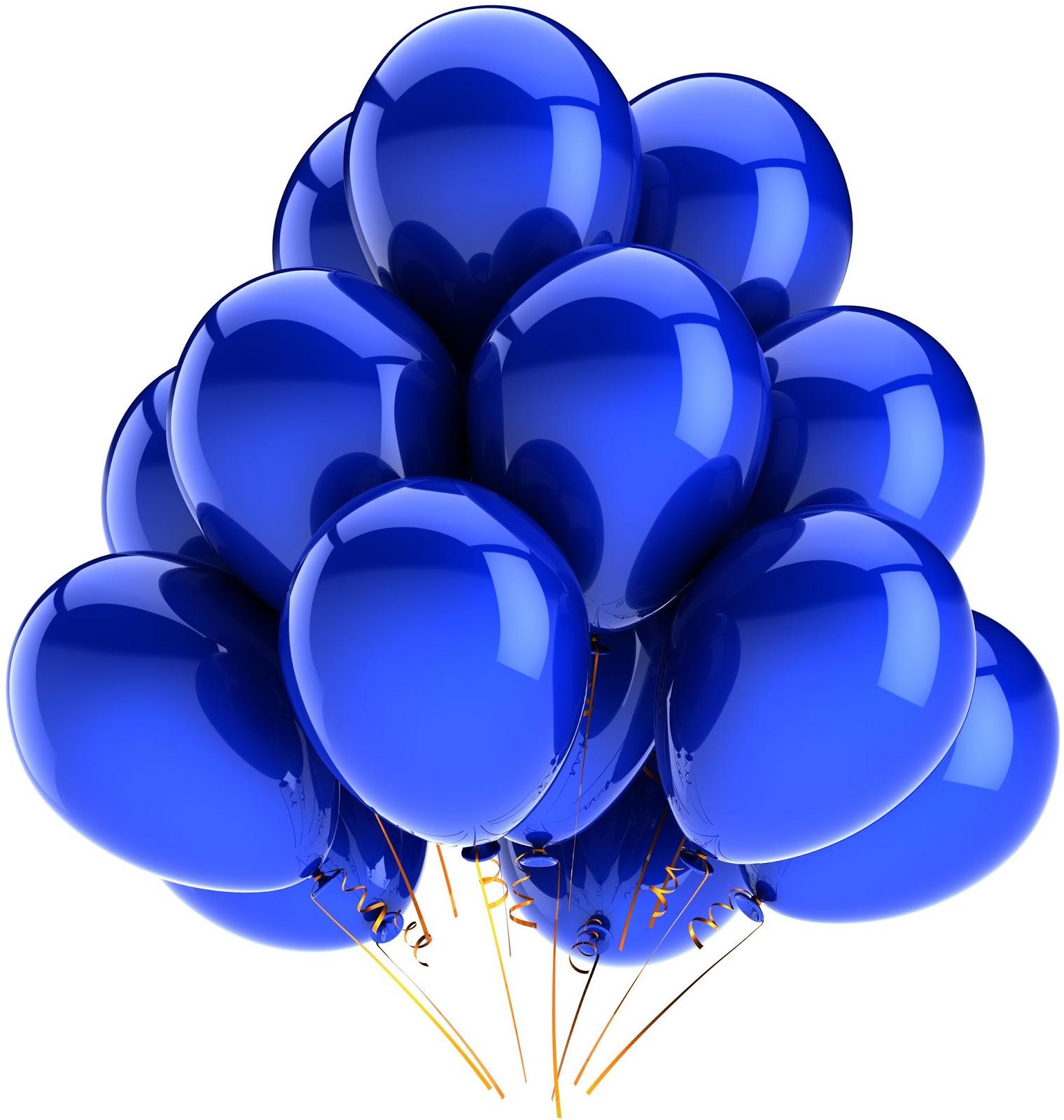 Облако из синих шаров