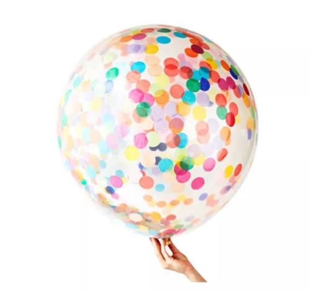 Шар 60см с разноцветным конфетти